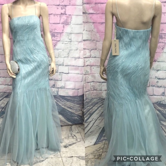 MIGNON Ice blue long evening gown